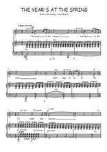 Téléchargez la partition de The Year's at the Spring en PDF pour Chant et piano