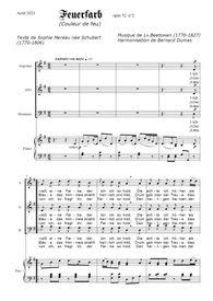 Téléchargez la partition de Feuerfarb en PDF pour 3 voix SAB et piano