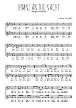Téléchargez l'arrangement de la partition de beethoven-hymne-a-die-nacht en PDF à deux voix