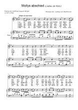 Téléchargez la partition de Molly's Abschied en PDF pour Chant et piano