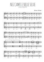 Téléchargez l'arrangement de la partition de Ludwig-van-Beethoven-Nei-campi-e-nelle-selve en PDF à deux voix