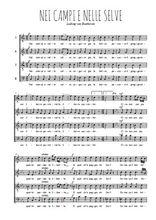 Téléchargez l'arrangement de la partition de Ludwig-van-Beethoven-Nei-campi-e-nelle-selve en PDF à quatre voix