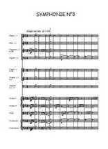 Symphonie N°5 pour orchestre Partition gratuite