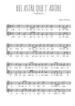 Téléchargez l'arrangement de la partition de Traditionnel-Bel-astre-que-j-adore en PDF à deux voix