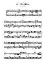 Téléchargez la partition de Salve Regina en PDF pour Chant et piano