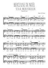 Téléchargez l'arrangement de la partition de Traditionnel-Berceuse-de-Noel en PDF à deux voix
