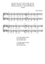 Téléchargez l'arrangement de la partition de Traditionnel-Berceuse-polonaise en PDF à deux voix