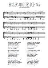 Téléchargez l'arrangement de la partition de Traditionnel-Bergers-qui-etes-ici-bas en PDF à deux voix