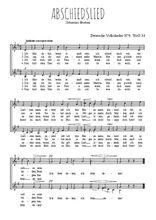 Téléchargez l'arrangement de la partition de johannes-brahms-abschiedslied en PDF à deux voix
