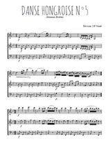 Téléchargez l'arrangement de la partition de brahms-danse-hongroise-n5 en PDF à trois voix