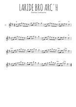Téléchargez la partition de la musique bretagne-laride-bro-arc-h en PDF, pour flûte traversière