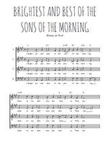 Téléchargez l'arrangement de la partition de Traditionnel-Brightest-and-best-of-the-sons-of-the-morning en PDF à quatre voix