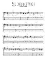 Téléchargez la tablature de la musique bro-gozh-ma-zadou en PDF