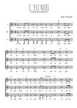 Téléchargez l'arrangement de la partition de c-est-noel en PDF pour trois voix de femmes