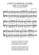 Téléchargez l'arrangement de la partition de Traditionnel-C-est-le-soir-de-la-Noel en PDF à deux voix