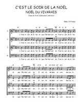 Téléchargez l'arrangement de la partition de Traditionnel-C-est-le-soir-de-la-Noel en PDF à quatre voix