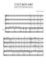 Téléchargez la partition de C'est mon ami en PDF pour 3 voix SAB et piano