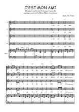 Téléchargez la partition de C'est mon ami en PDF pour 4 voix SATB et piano