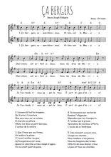 Téléchargez l'arrangement de la partition de Traditionnel-Ca-bergers en PDF à deux voix