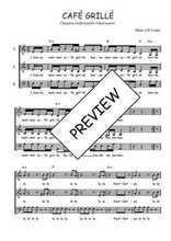 Téléchargez l'arrangement de la partition de Traditionnel-Cafe-grille en PDF à trois voix