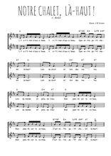 Téléchargez l'arrangement de la partition de Carlo-Boller-Notre-chalet-la-haut en PDF à deux voix