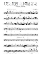 Téléchargez la partition de tchaikovski-casse-noisette-danse-russe en clef de fa