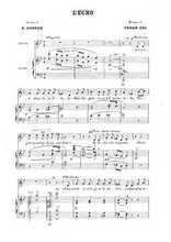 Six mélodies 2. L'écho Partition gratuite