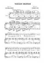 Six mélodies 3. Vieille chanson Partition gratuite