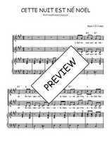 Téléchargez la partition de Cette nuit est né Noël en PDF pour 2 voix égales et piano