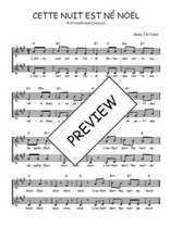 Téléchargez l'arrangement de la partition de Traditionnel-Cette-nuit-est-ne-Noel en PDF à deux voix