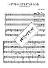 Téléchargez la partition de Cette nuit est né Noël en PDF pour 3 voix SAB et piano