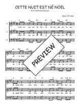 Téléchargez l'arrangement de la partition de Traditionnel-Cette-nuit-est-ne-Noel en PDF à trois voix