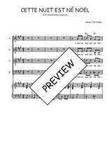 Téléchargez la partition de Cette nuit est né Noël en PDF pour 4 voix SATB et piano