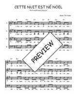 Téléchargez l'arrangement de la partition de Traditionnel-Cette-nuit-est-ne-Noel en PDF à quatre voix