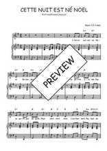 Téléchargez la partition de Cette nuit est né Noël en PDF pour Chant et piano