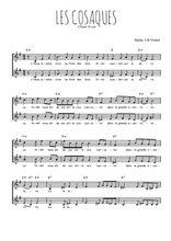 Téléchargez l'arrangement de la partition de chant-scout-les-cosaques en PDF à deux voix