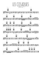 Téléchargez la partition en Sib de la musique chant-scout-les-cosaques en PDF