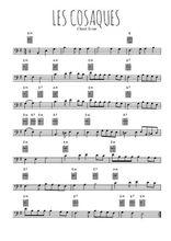 Téléchargez la partition de chant-scout-les-cosaques en clef de fa