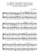 Téléchargez l'arrangement de la partition de chante-un-noel-nouveau en PDF à deux voix