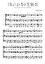 Téléchargez l'arrangement de la partition de chante-un-noel-nouveau en PDF à trois voix
