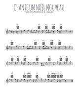 Téléchargez la partition pour saxophone en Mib de la musique chante-un-noel-nouveau en PDF