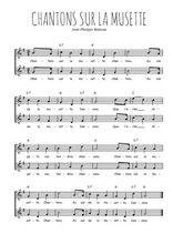 Téléchargez l'arrangement de la partition de Jean-Philippe-Rameau-Chantons-sur-la-musette en PDF à deux voix