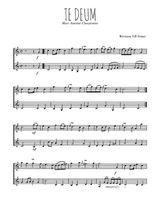 Téléchargez l'arrangement de la partition de marc-antoine-charpentier-te-deum en PDF à deux voix