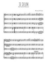 Téléchargez la partition de Te deum en PDF pour 3 voix SAB et piano