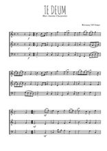 Téléchargez l'arrangement de la partition de marc-antoine-charpentier-te-deum en PDF à trois voix