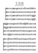 Téléchargez l'arrangement de la partition de marc-antoine-charpentier-te-deum en PDF à quatre voix