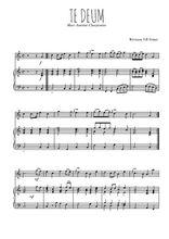 Téléchargez la partition de Te deum en PDF pour Chant et piano