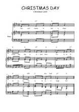 Téléchargez la partition de Christmas day en PDF pour Chant et piano