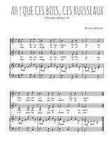 Téléchargez la partition de Ah ! que ces bois, ces ruisseaux en PDF pour 2 voix égales et piano