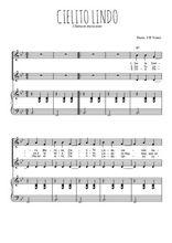 Téléchargez la partition de Cielito Lindo en PDF pour 2 voix égales et piano